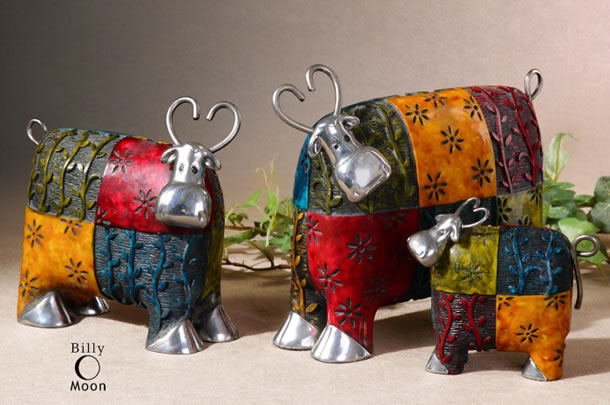 DC Williams & Son | Uttermost Colorful Cows, Accessories