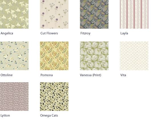 Sanderson Bloomsbury Canvas Fabrics designs