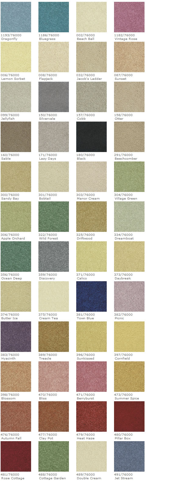 Axminster Devonia Plains available colours
